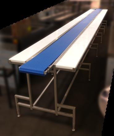 Linia dopierogów, stół doformowania pierogów ztransporterem, ogólne
