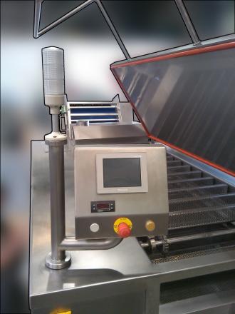 linia doprodukcji pierogów, kocioł gotujący, wydajne gotowanie pierogów, para technologiczna